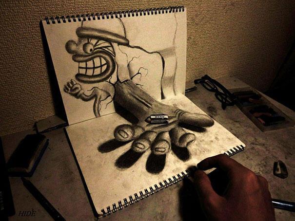 [INFO]Seni Pensil Gambar 3D dari Nagai Hideyuki