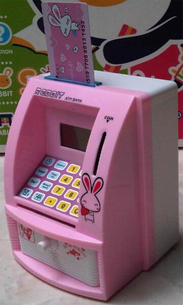 Celengan ATM Bank (dengan kartu ATM dan password)