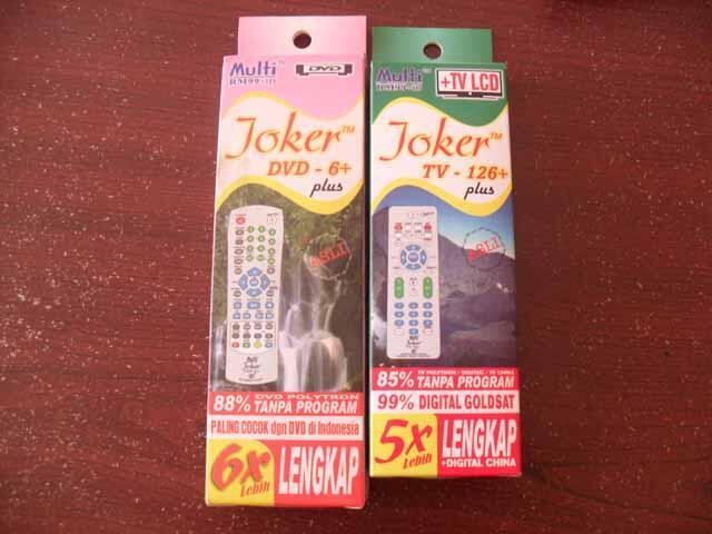 Remote Control untuk berbagai macam TV, VCD, DVD, AC, Digital. GROSIR & ECERAN!!!