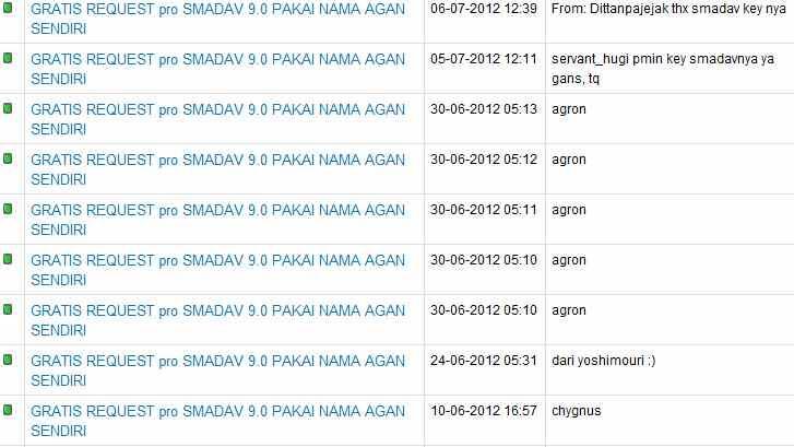 GRATIS REQUEST pro SMADAV 9.0 PAKAI NAMA AGAN SENDIRI