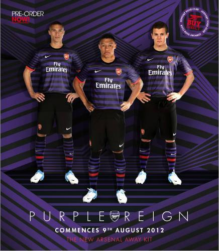 Jersey Away Arsenal BARU 12/13 [Purple Reign]