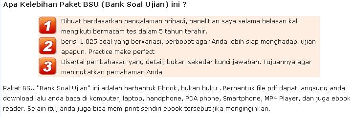 Bank SOAL Ujian CPNS & BUMN #1 di Indonesia (Ebook & Software)