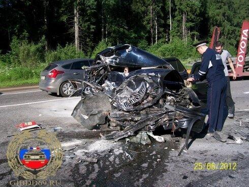 Horrible car crash in russia !