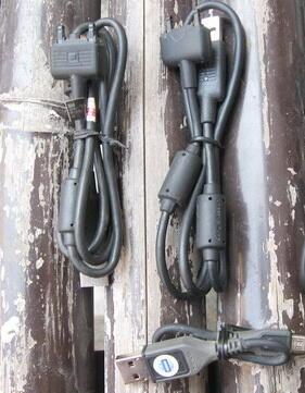 kabel data Nokia ca101, ca101d, dku-2, sony ericsson dcu-65 hitam dan abu-abu