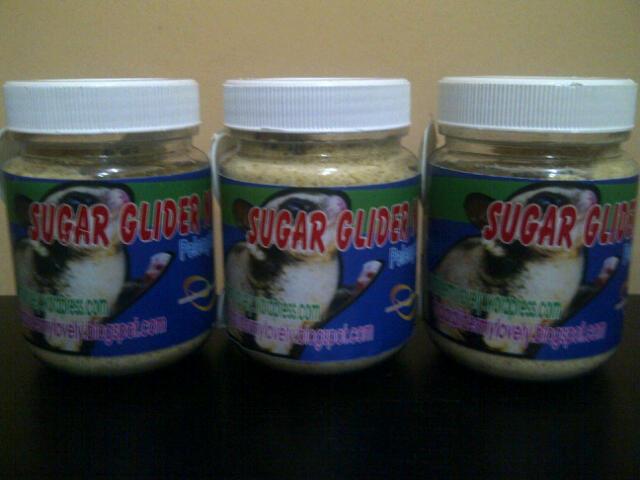 SG Nutrisi yang dibutuhkan Tupai Sugar Glider spy sehat,gendut,lincah!!!