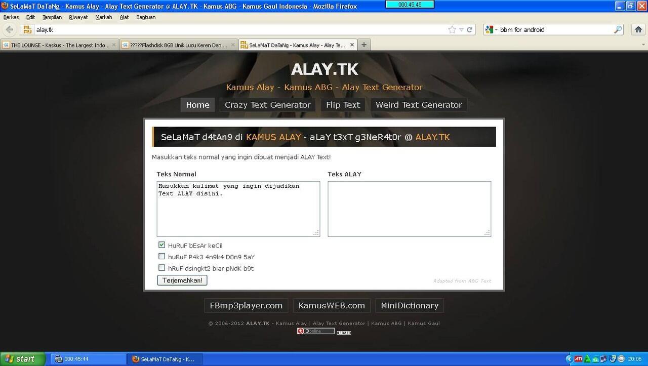 Ternyata ada Generator Text Alay Gan | KASKUS