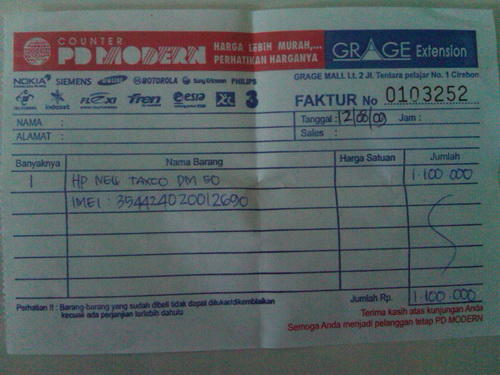 Mau coba jual sampah TAXCO DM50 gsm-cdma