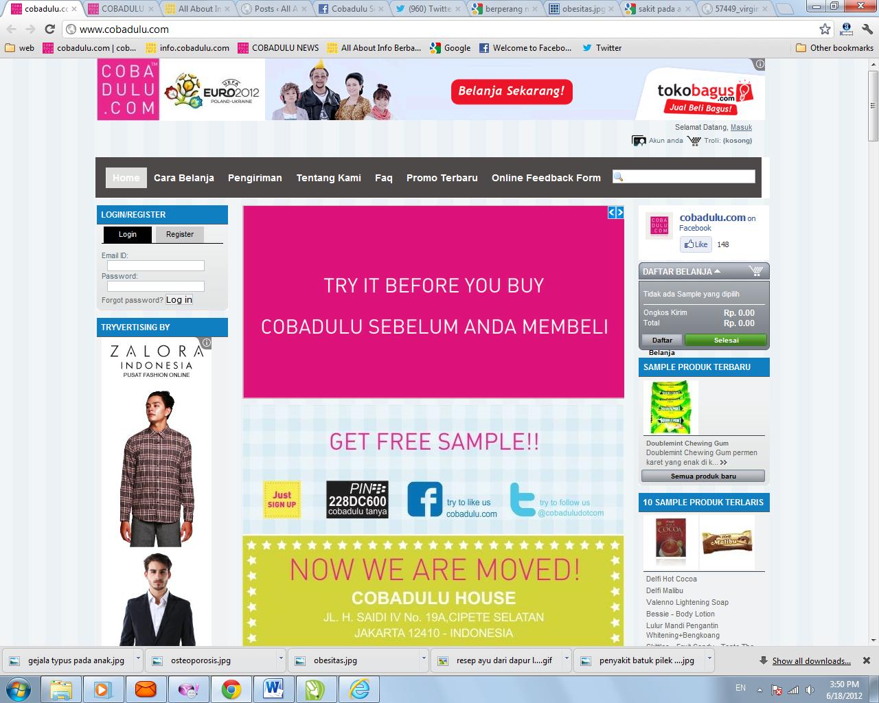 Tempat mencoba berbagai produk gratis www.cobadulu.com