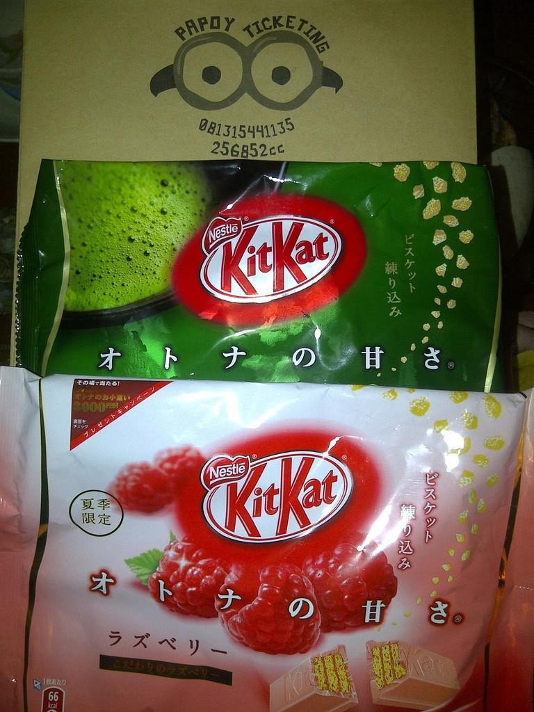 Kitkat green tea dan snack lainnya