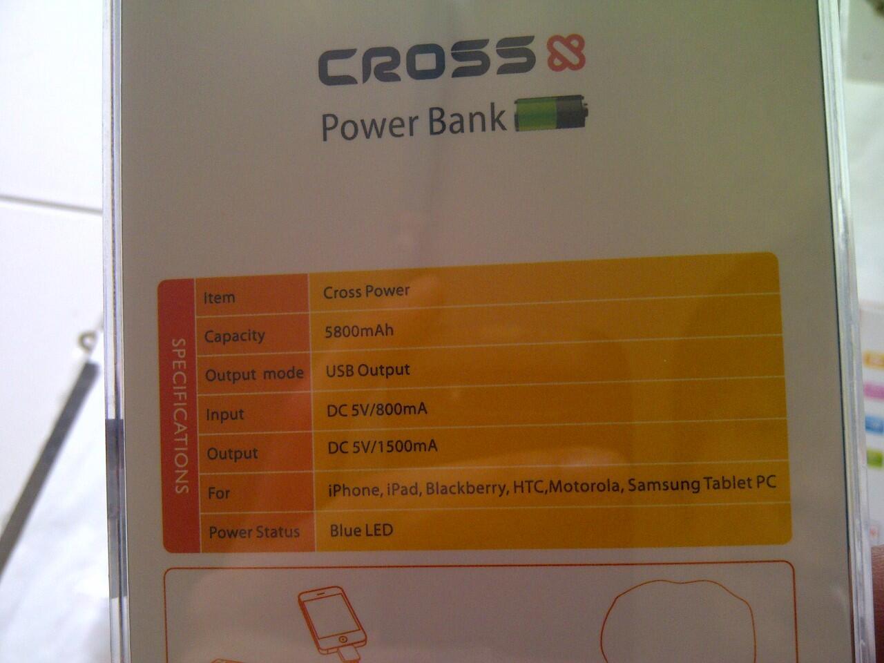 CROSS POWER BANK 5600mAH