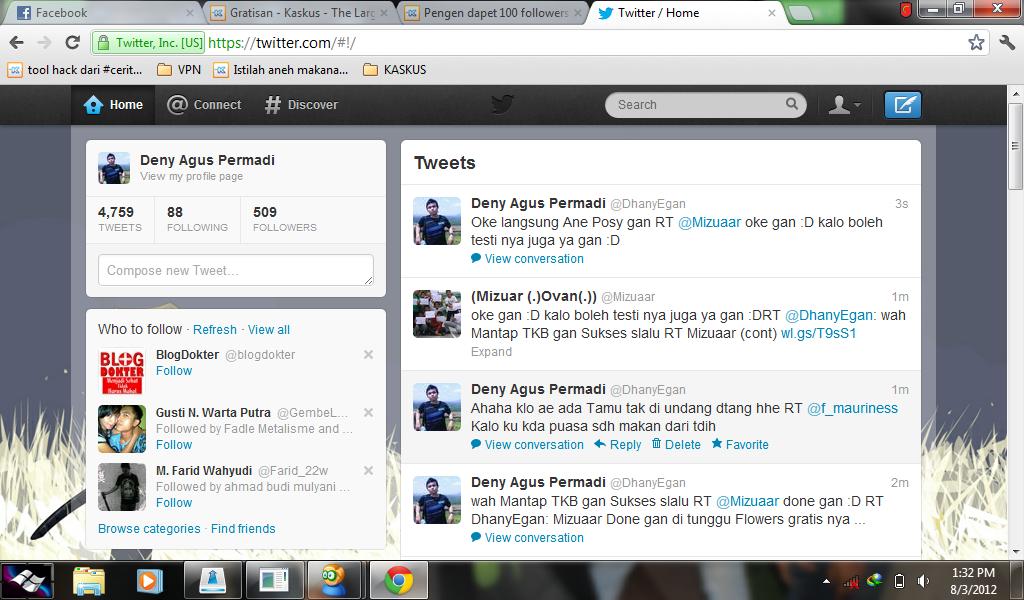 Pengen dapet 100 followers gratis CUMA CUMA masuk aja gan :)