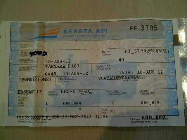 Wts Tiket Kereta Api Lebaran Jakarta Jogja Taksaka Pagi 18 Agustus