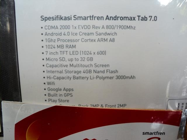 TABLET 7 INCH MURAH SMARTFREN ANDROTAB max tab BARU CUMA 1,46JUTA JOGJA