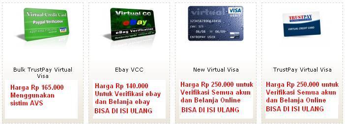 ~๑ஜ★۞★ஜ๑~JUAL VCC MURAH (untuk verifikasi alat Pembayaran)~๑ஜ★۞★ஜ๑~
