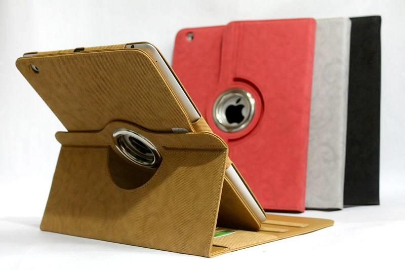 case-casing Rotate-Rotary iPad 1-2-3,Smart cover-case Leather case New iPad