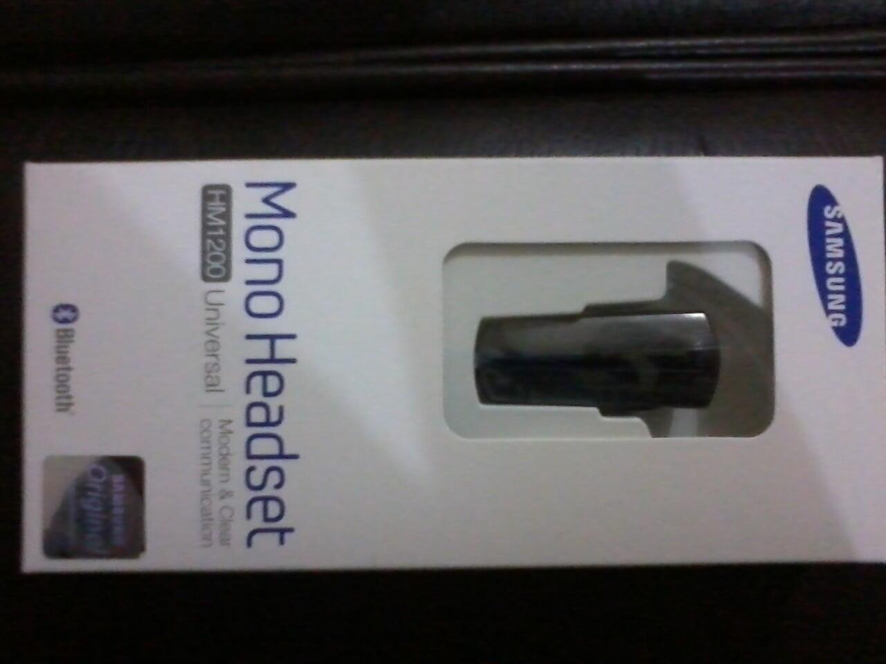 Headset Bluetooth Samsung HM 1200 Ori + Bonus