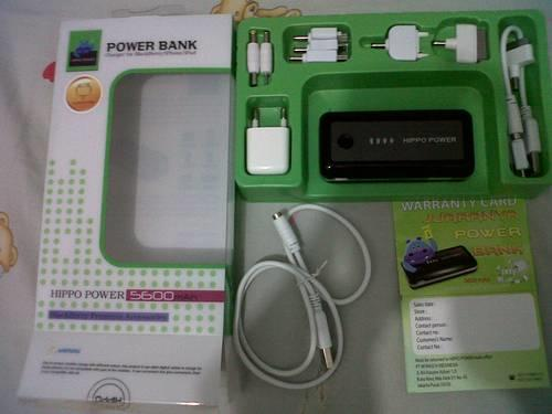 Hippo Power Bank 5600 / 5800 mAh Original 100% Dijamin Termuraaah se-Kaskus !!!