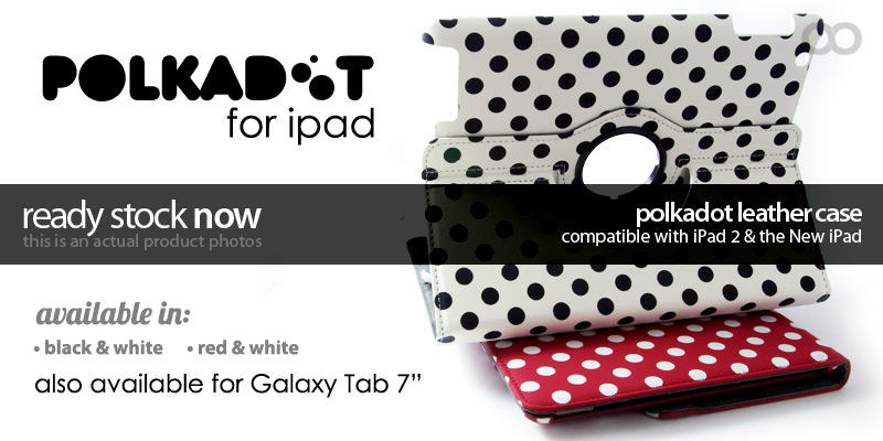 Polkadot Case for iPad and Galaxy Tab 7