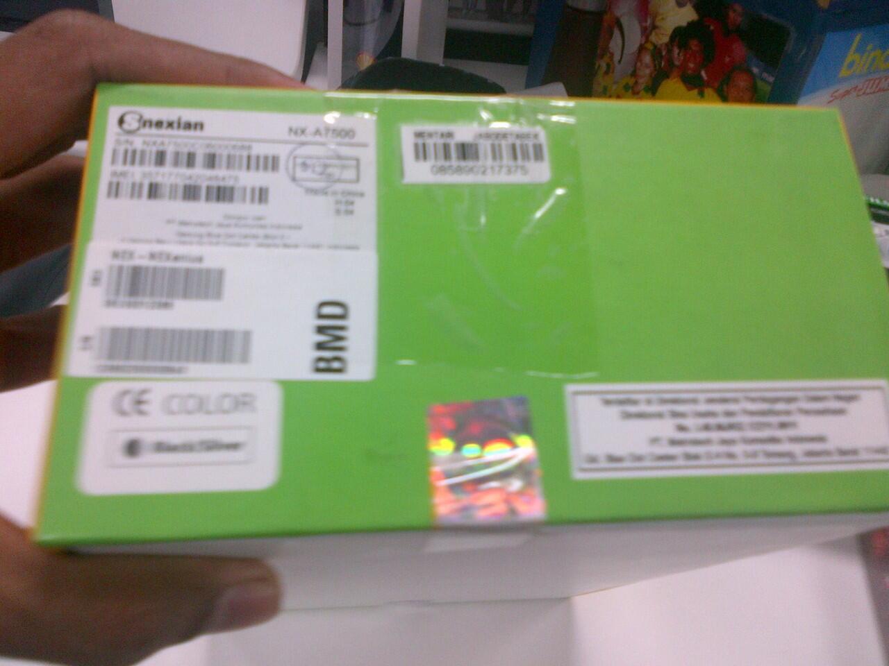 Jual Tablet Nexian Genius NX-A7500 Baru, Segel, Garansi Resmi (1.7 juta)