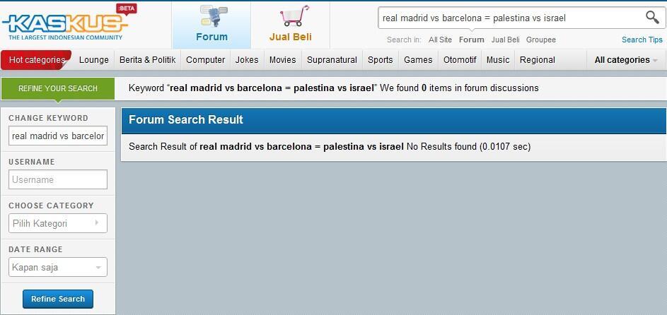 REAL MADRID VS BARCELONA = PALESTINA VS ISRAEL