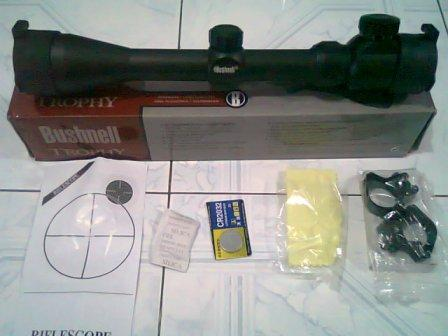Scope Bushnell Throphy 3-9x 40E Murah Free Ongkir Se-Jawa