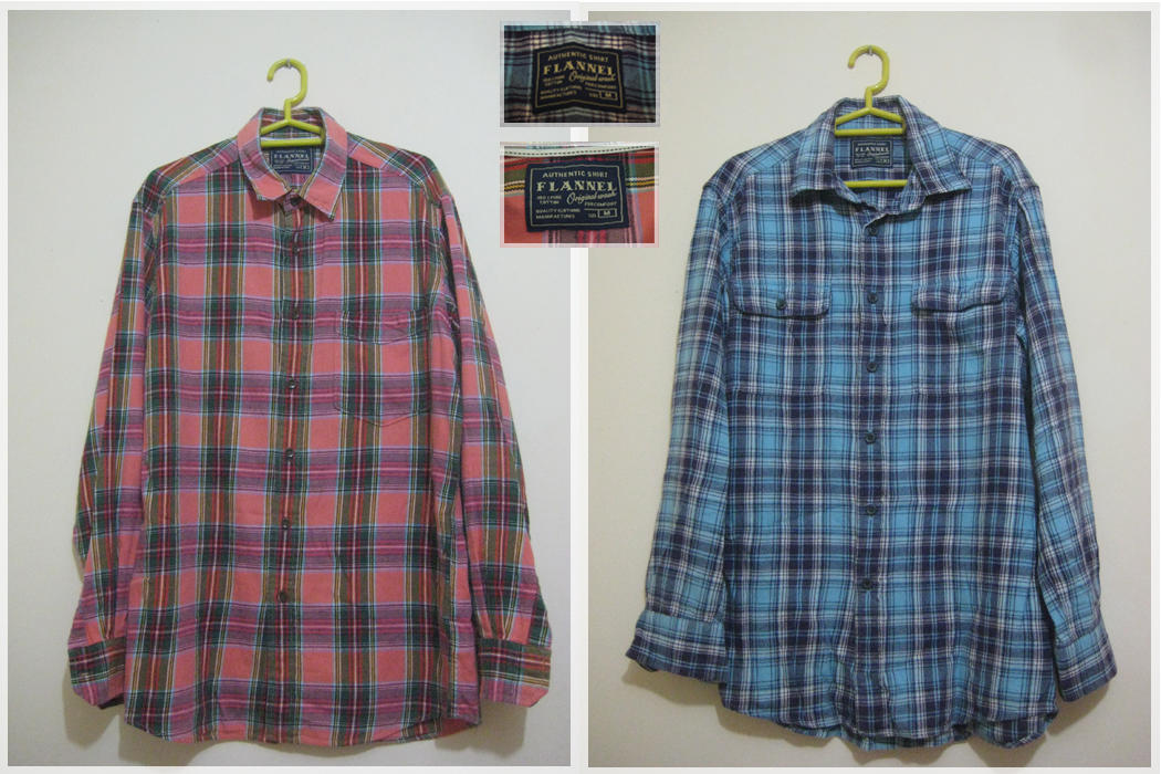LP dan SP dickies dan flannel authentic uniqlo muraaah banget