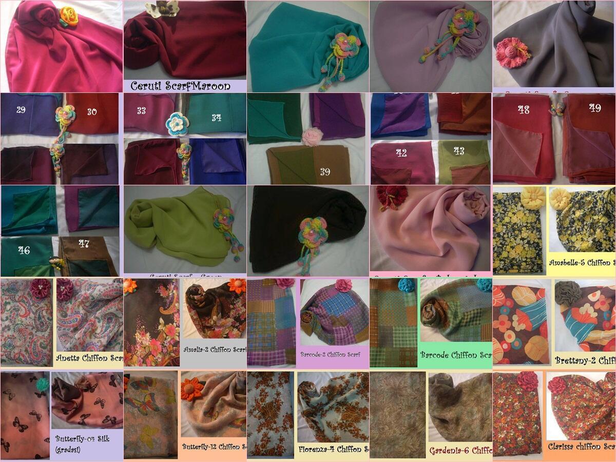 Shawl silk chiffon high quality..mulai dari 35rbu aza :) motif bandung maknyus!