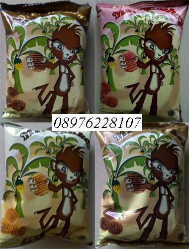 Mr Monkey Banana Chips / keripik pisang dari Lampung