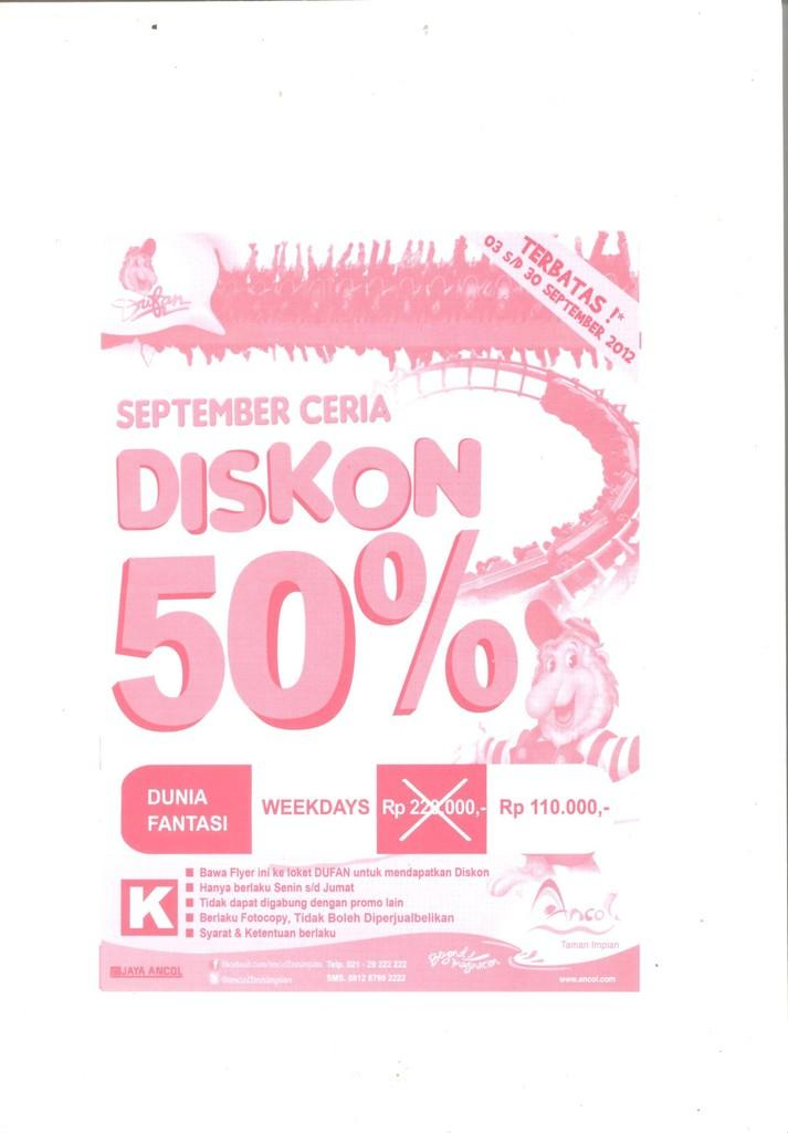 Flyer Diskon Dufan 50% September Ceria....