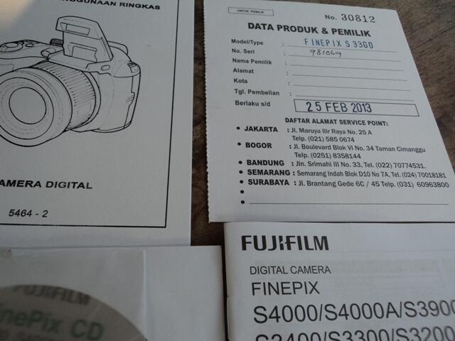 Dijual Kamera Fujifilm Finepix S 3300 Prosumer/Semipro