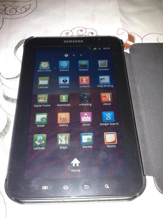 Samsung Galaxy Tab P1000 16GB 3G + Wifi Bisa Telpon & Sms Batangan Mulus Ex Garansi