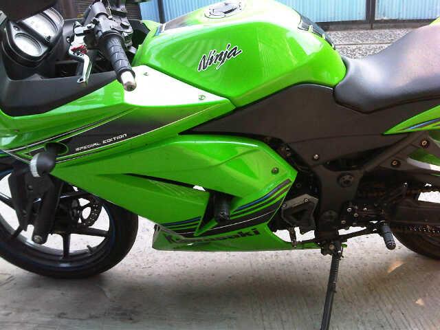 Kawasaki Ninja N250 SE tahun 2012 warna Hijau
