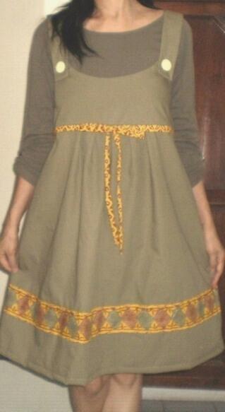 BAJU DRESS SANTAI DRESS KERJA DRESS HAMIL MENYUSUI KATUN