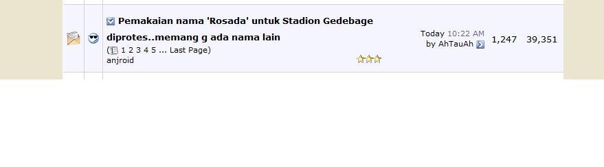 Pemakaian nama 'Rosada' untuk Stadion Gedebage diprotes..memang g ada nama lain