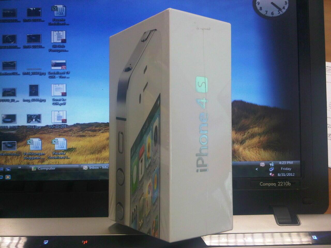 Jual BNIB IPHONE 4GS-WHITE-64GB, SIAPA CEPAT DIA DAPAT !!!