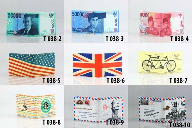 Dompet/wallet unik gambar uang, amplop , dll