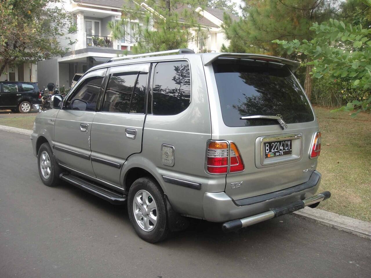 toyota kijang SGX 1,8, th 2002, new model, silver met