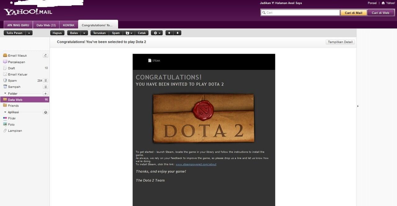 ID Dota 2 Gift Steam COD Jogja Only