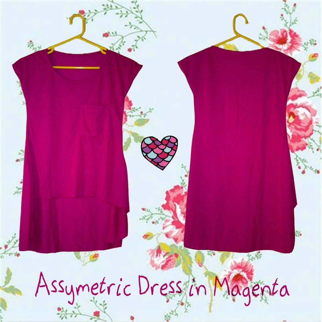 2 NEW ITEMS : assymetric/asimetris top & mini dress