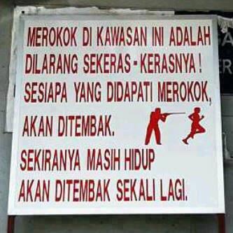 LARANGAN MEROKOK DI MALAYSIA