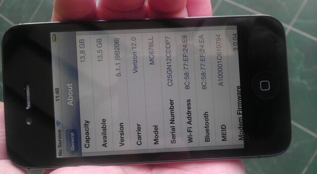 Iphone 4G 16GB BLACK (CDMA Verizon) Batangan-MULUZZZ-MURAH