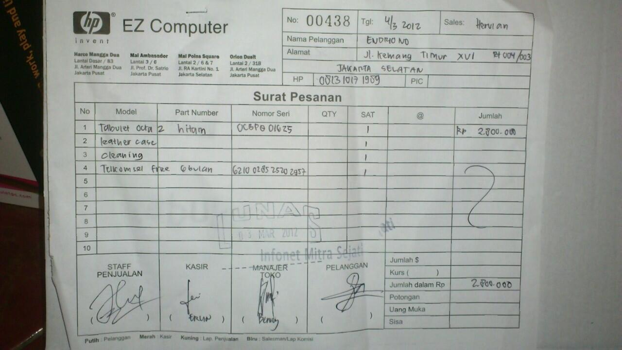 [WTS] Tablet TABULET OCTA 2