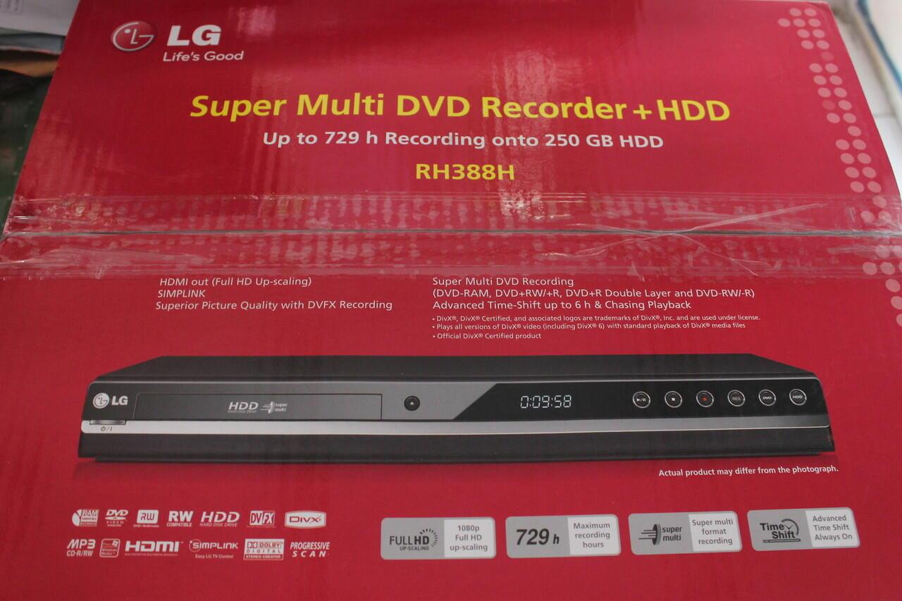 Jual DVD Player LG RH388H ada harddisknya, bisa buat rekam siaran tv.