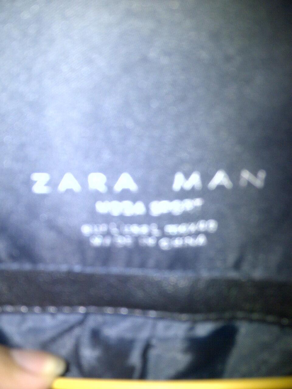 For Sell Zara Man Black Varsity Leather Jacket