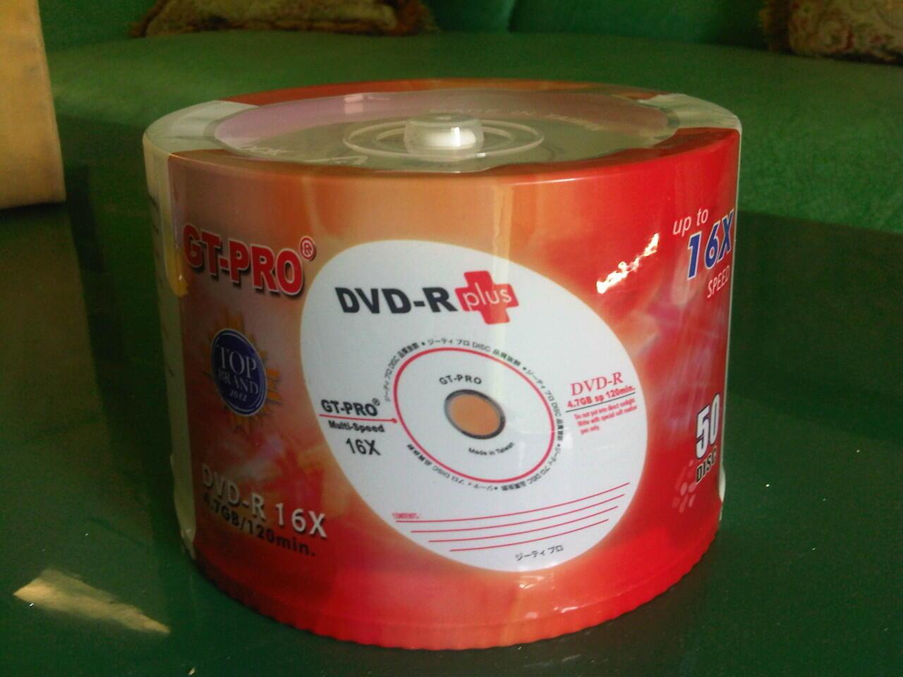 JUAL CD-R , DVD-R Blank/Kosong Merk GT-Pro