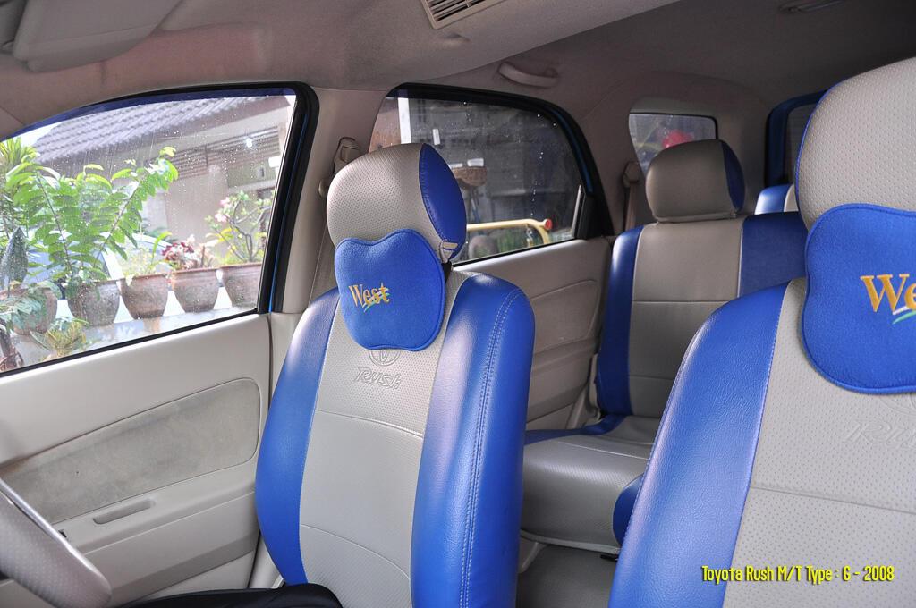 Toyota Rush G 2008 - Biru - Jok 3 Baris
