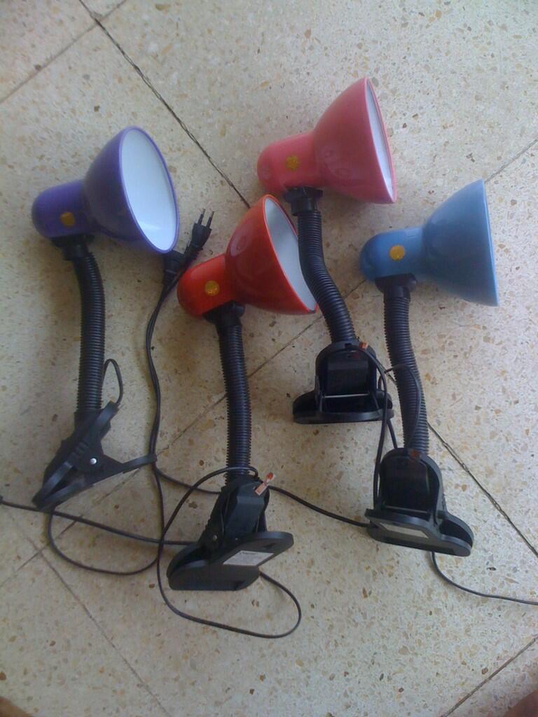 Jual Second Clip On Desk Lamps / Lampu Meja
