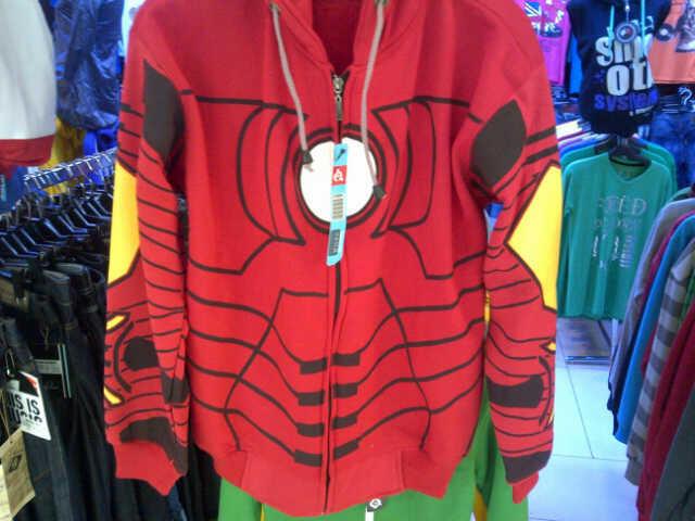 JAKET / HOODIE SUPERHERO CAPTAIN AMERICA SPIDERMAN IRONMAN AVENGERS MURAH 130K