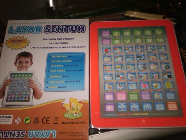 Jual IPAD Mainan Layar Sentuh / Alat Bantu Belajar Anak - Anak