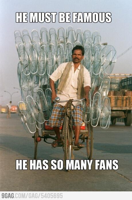 orang ini punya banyak fans gan.. !!
